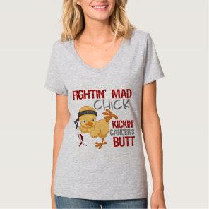 Fightin Chick Throat Cancer T-Shirt
