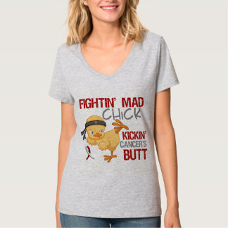 Fightin Chick Throat Cancer T-Shirt
