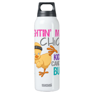 Fightin Chick Thyroid Cancer 16 Oz Insulated SIGG Thermos Water Bottle
