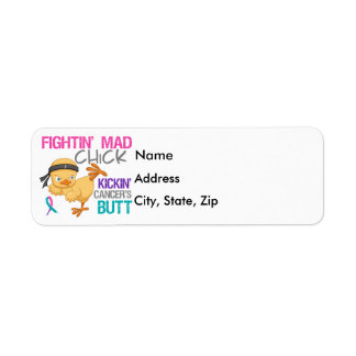 Fightin Chick Thyroid Cancer Label