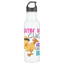 Fightin Chick Thyroid Cancer Stainless Steel Water Bottle