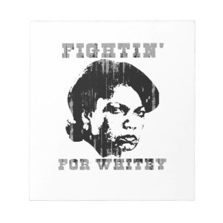 Fightin for whitey Faded png Memo Note Pad