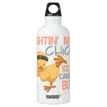 Fightin' Mad Chick Endometrial Cancer Aluminum Water Bottle