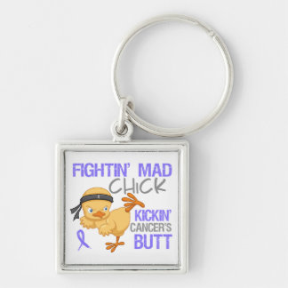 Fightin' Mad Chick Esophageal Cancer Key Chains