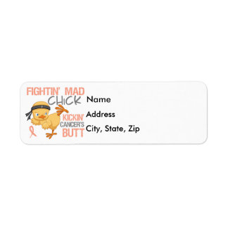 Fightin' Mad Chick Uterine Cancer Label