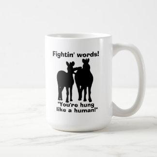 Fightin redacta la taza divertida del caballo