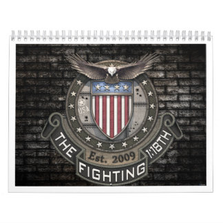 Fighting118th banner calendar with background
