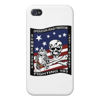 Fighting 103 Jolly Rogers Operstion Iraq Freedom i Case For iPhone 4