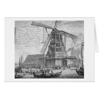 Fighting a fire in a windmill near Worden, from a Card