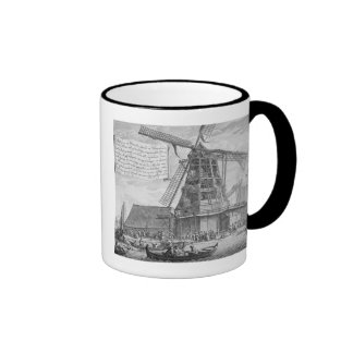 Fighting a fire in a windmill near Worden, from a Ringer Mug