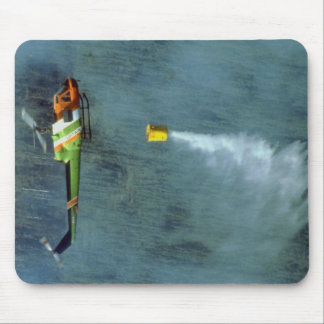 Fighting a forest fire, north of Edmonton, Alberta Mousepad