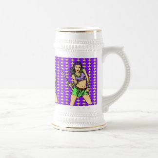Fighting Amazon Women Beer Stein