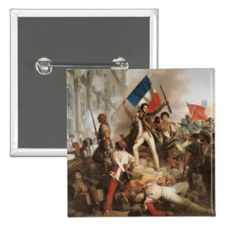 Fighting at the Hotel de Ville Pinback Button