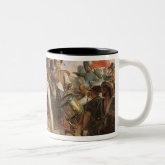 Fighting at the Hotel de Ville Two-Tone Coffee Mug