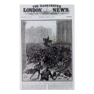 Fighting at the Liverpool General Transport Print