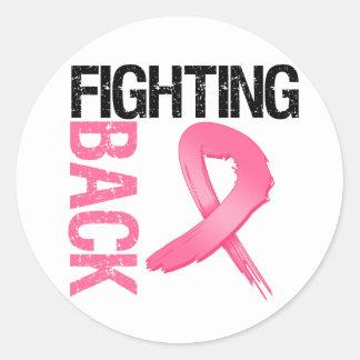 Fighting Back Breast Cancer Round Sticker