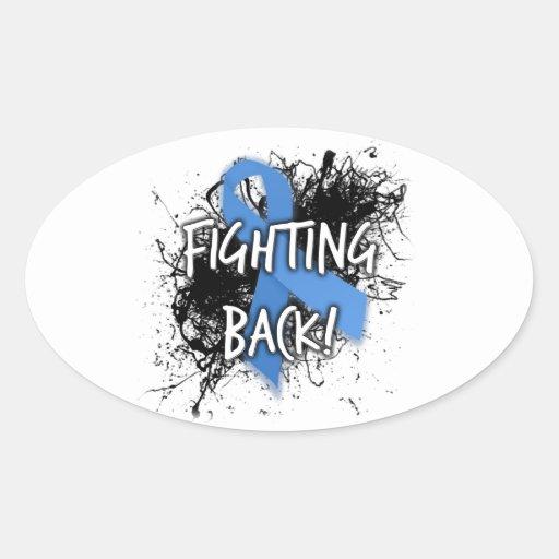 Fighting Back Oval Sticker