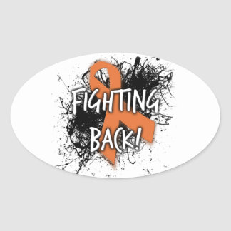 Fighting Back Oval Sticker
