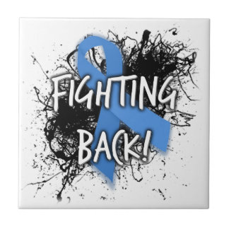Fighting Back Small Square Tile