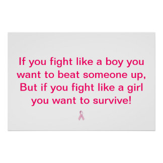 Fighting Cancer! Poster