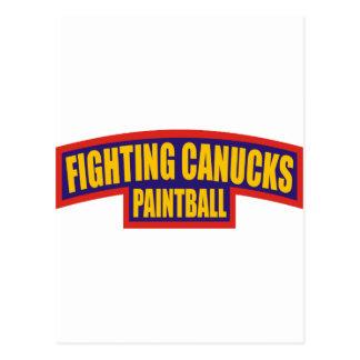 Fighting Canucks Tab Postcard