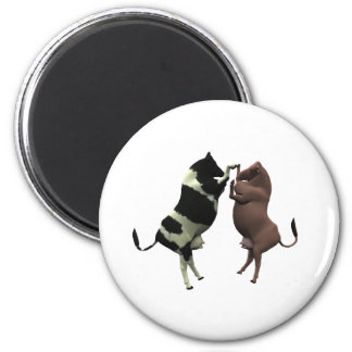 fighting cows magnet