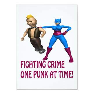 Fighting Crime One Punk At A Time Card