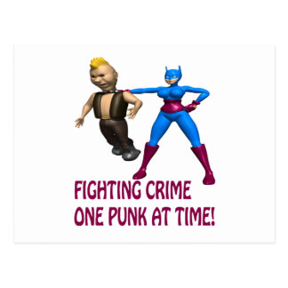 Fighting Crime One Punk At A Time Postcard