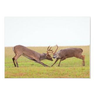 Fighting Deer Invitation