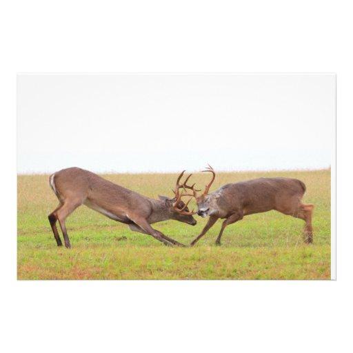Fighting Deer Stationery