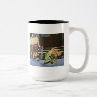 Fighting Defeat Two-Tone Coffee Mug