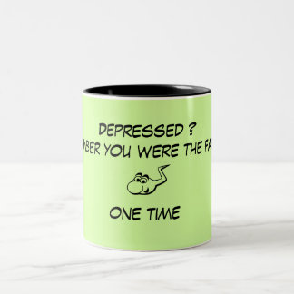 Fighting Depression, you were the fastest one time Two-Tone Coffee Mug