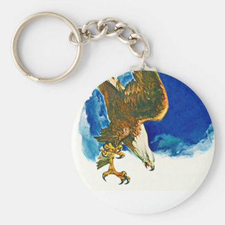 FIGHTING EAGLE IN AN AGGRESSIVE DIVE KEY-CHAIN KEY CHAINS