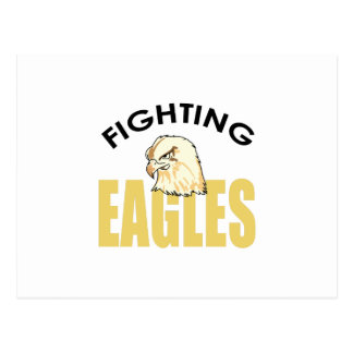FIGHTING EAGLES POSTCARD