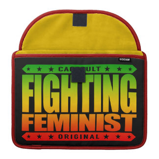 FIGHTING FEMINIST - A Warrior Goddess Of Feminism Sleeves For MacBook Pro