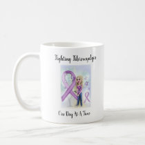 """Fighting Fibromyalgia One Day At A Time"" Coffee Mug"