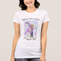 """Fighting Fibromyalgia One Day At A Time"" T-Shirt"
