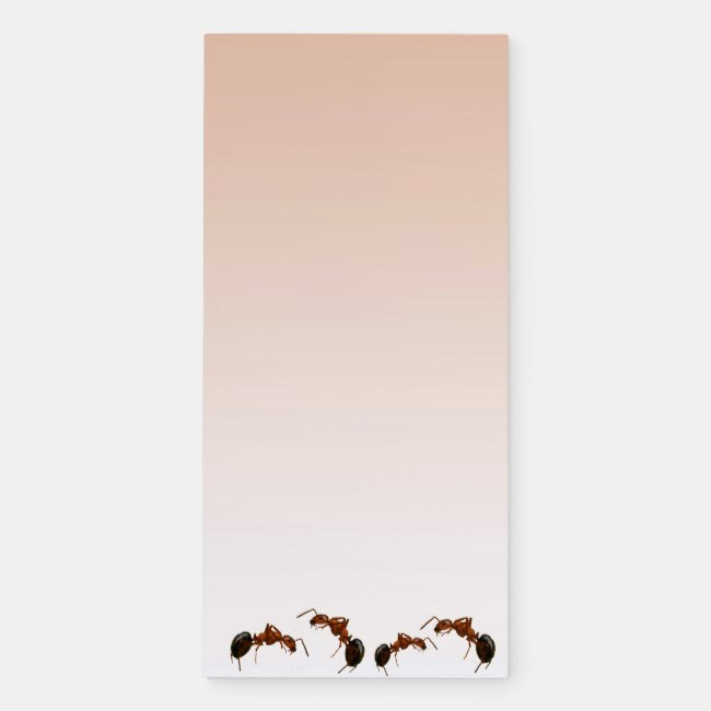 Fighting Fire Ants Magnetic Fridge Notepad