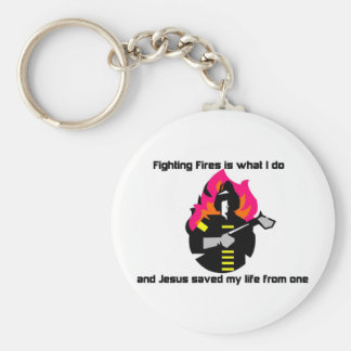 Fighting Fires is what I do Christian gift Key Chains