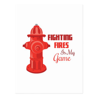 Fighting Fires Postcard
