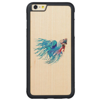 fighting fish carved® maple iPhone 6 plus bumper