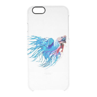 fighting fish clear iPhone 6/6S case