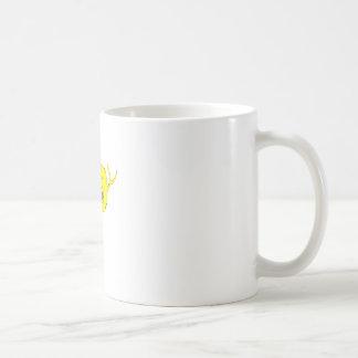 fighting fish classic white coffee mug