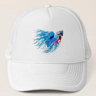 Fighting fish trucker hat