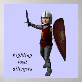 Fighting food allergies poster