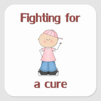Fighting for a Cure Square Sticker
