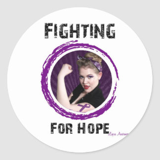 Fighting For Hope- Lupus Classic Round Sticker