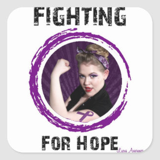 Fighting For Hope- Lupus Square Sticker