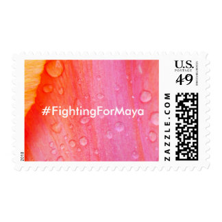 Fighting For Maya Tulip Postage Stamps