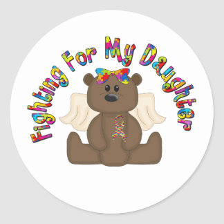 Fighting For My Daughter Classic Round Sticker